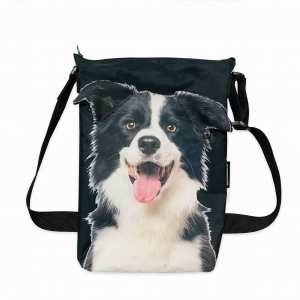 Torba minishopper z psem - Border Collie